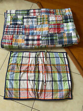 Pottery Barn Kids Twin Plaid Quilt and Sham Nice!