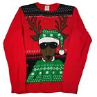 Well Worn Reindeer Sunglasses Ugly Christmas Sweater Boys Youth L Large