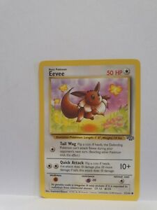 Eevee 51/64 Official 1999 Base Jungle Set Pokemon Card NM