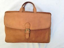 "Boulder Ridge 10X15"" Honey Brown Leather Purse Messenger Bag w 13 Compartments"