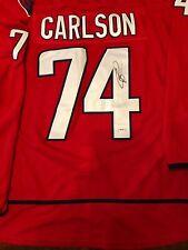 John Carlson Signed Washington Capitals Jersey Psa/Dna Coa Autographed Hockey