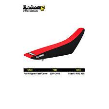 2008-2017 SUZUKI RMZ 450 Black/Red FULL GRIPPER SEAT COVER BY Enjoy MFG