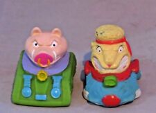 Vintage Burger King Barnyard Commandos Cuff pieces - Sgt Wooly, Pvt.Side O Bacon