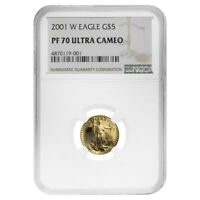 2001 W 1/10 oz $5 Proof Gold American Eagle NGC PF 70 UCAM