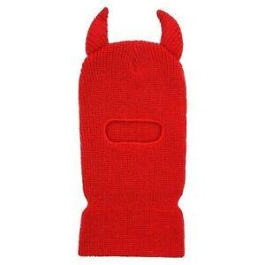 Red Devil Ski Mask 1 Hole Balaclava Hood Full Face Winter Cap Adult Beanie Hat