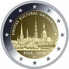 * LOT DE 5 PIECES -- 2 € COMM - UNC - LETTONIE 2014 - RIGA