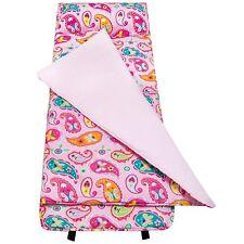 Girls Pink Paisley Nap Mat Kid Blanket Pillow Case Travel Sleeping Bag Butterfly
