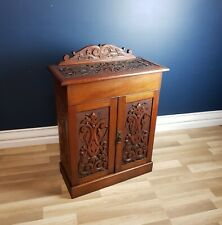FREE DELIVERY - Australiana Carved Blackwood Cabinet, School of Prenzel c1900