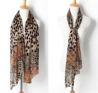 New Fashion Women Fashion Leopard Pattern Animal Print Shawl Scarf Wrap