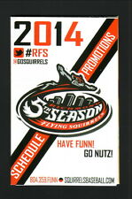 2014 Richmond Flying Squirrels Schedule--Dairy Queen