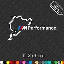 Nurburgring BMW M Performance car sticker decal vinyl - White