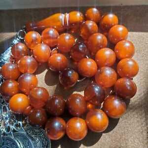 free shipping German bakelite orange 33 Prayer Beads cherry faturan komboloi