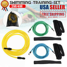 3/4m Swim Bungee Training Belt Set Resistance Band Tether Harness Strap