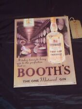 Large Booths Gin Metal Sign Vintage Style Plaque Whisky Beer Pub Bar whiskey