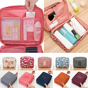 Multifunction Ladies Makeup Pouch Toiletry Organizer Bag Travel Cosmetic Bag Box