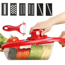 7 in I Manual Vegetable Slicer Potato Fruit Cutter Stainless Steel Kitchen Tool