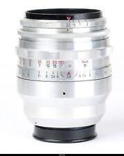 Lens Zeiss Tessar 2.8/80mm Red T No.3514212 for Exakta
