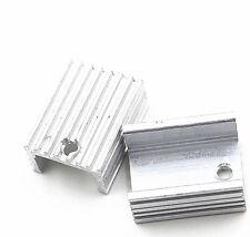10PCS 21x15x10mm aluminio calor disipador de calor disipador de transistores de TO-220 Hágalo usted mismo Nuevo