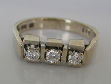 ✪ ✪ ✪ Gold Ring in aus 14kt 585 Weißgold mit Brillant Schmuck Diamant Brillanten