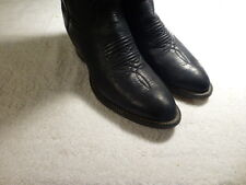 Larry Mahan Men's Tall, Black Leather Cowboy Boots Model 2732 Size 8D