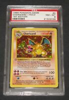 Pokemon Card PSA 8 1st Edition Base Set Charizard 4/102 GREY/GRAY STAMP ERROR