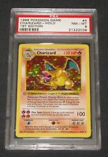 Pokemon Card PSA 8 1st Edition Base Set Charizard 4/102 GREY/GRAY STAMP ERROR