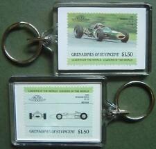 1966 Brabham Repco BT-19 Car Stamp Keyring (Auto 100 Automobile)