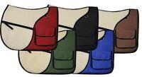 Showman English Saddle Pad with Saddle Pockets! Colors!