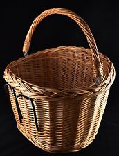 Beautiful Handcrafted Natural Wicker Bicycle Basket Bike Wicker Dream