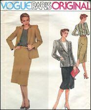 1970s Vintage Christian Dior Suit Vogue Paris Original Sewing Pattern B 32  W 25