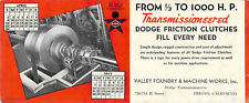 DODGE FRICTION CLUTHES VALLEY FOUNDRY BUSINESS TRADE CARD FRESNO CALIFORNIA