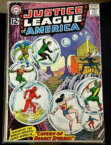 DC JUSTICE LEAGUE OF AMERICA #16 SILVER AGE COMIC BOOK BATMAN WONDER WOMEN FLASH