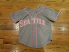 SEATTLE MARINERS GIRLS MAJESTIC SIZE 7 BRET BOONE SIGNED JERSEY