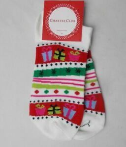 Holiday Socks Women's Low Cut Gift Stripe Charter Club One Size