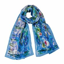 100% pure silk scarf (Claude Monet's Water lilies) Gift wrapping available.