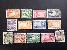 CAYMAN ISLANDS. 1938. KGVI Complete Set Sc#100-111  (13). MH.  Top Values-MNH
