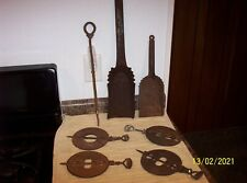New listing Vintage Lot of Cast Iron Stove Dampers Plus More - Take A L@K!