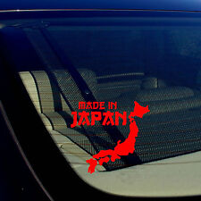 """Made In Japan State JDM Racing Drift Low Red Decal Sticker 5"""" Inches"""