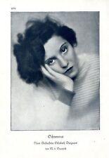 Elisabeth Begners Schwermut ( M.v.Bucovich ) Künstler-Photographie c.1928
