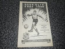 PORT VALE  v  STOKE CITY  1955/6  ~ OCTOBER 8th POTTERIES ' DERBY '  *FREE POST*