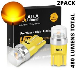 LED Amber Yellow Front Side Marker Light Bulbs for Audi, BMW, VW 194 168 175 W5W