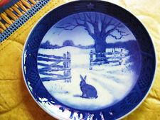 Royal Copenhagen Christmas Plate 1971 Hare In Winter