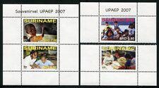 SURINAM 2007 UPAEP Bildung Kinder Children 2158-59 + Block 103 ** MNH