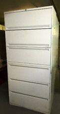 """IWOF 6 DRAWER 36"""" IBM WHITE FILING CABINET PRE-OWNED"""
