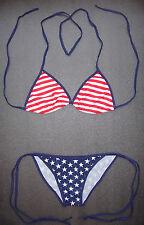 USA BIKINI Swimming Costume Stars and Stripes Pattern 2 Piece Swimsuit Swimwear