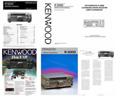 """INSTRUCTION + SERVICE MANUALS + 15 11x17"""" SCHEMATIC DIAGRAMS for KENWOOD R-5000"""
