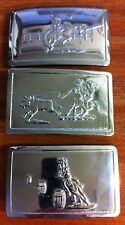 30 assorted Shiny Nickel Horse belt buckles, country & western, 3 styles