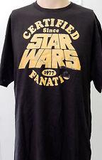 Black Star Wars Certified Fanatic 1977 Empire Strikes Back T Shirt 2XL XXL Gift