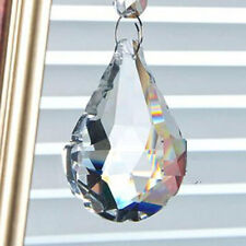 50mm Clear Crystal Prism Feng Shui Drops Pendants Suncatcher Cut Hanging Sector