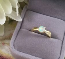 Vintage Jewellery Yellow Gold Ring with Opal Art Deco Jewelry Ring Size 9 or S